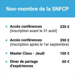 Journées SNFCP 2021 : Tarif Membres de la SNFCP